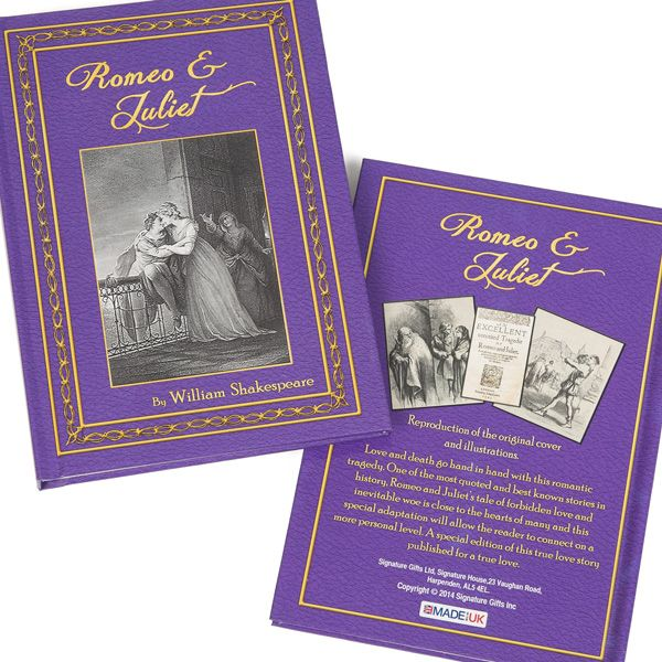 Romeo And Juliet Book Cover Ideas ~ Romeo and juliet personalised novel